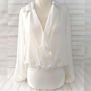 Windsor Body Suit • Dressy Snap One Piece w Collar